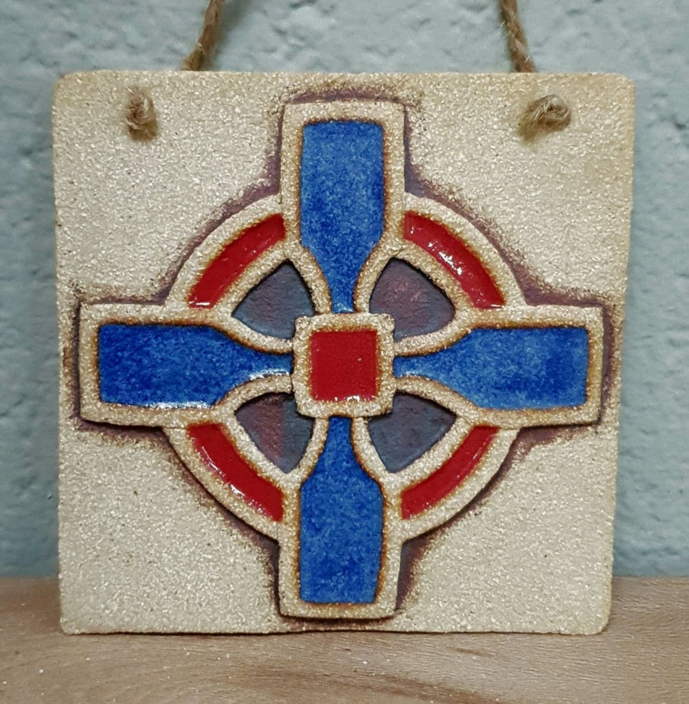 Square Cross Plaque - Small
