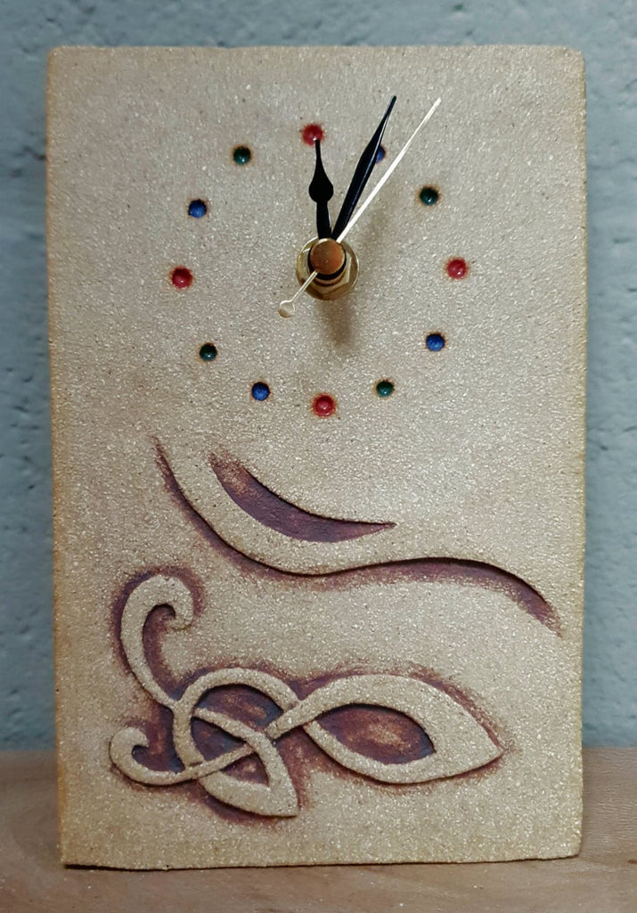 Michelle Butler Ceramics Celtic Rectangular Clock