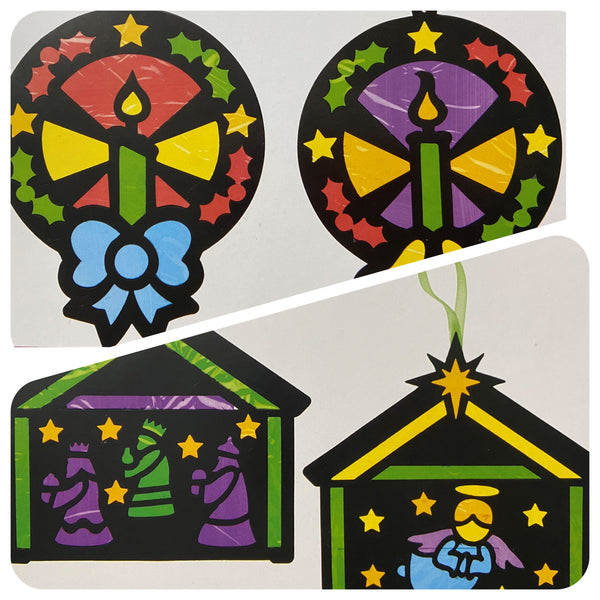 Stained Glass Paper Hanging Decorations to make at home