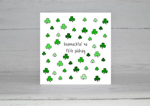 Connect The Dots St Patrick's Day Shamrocks