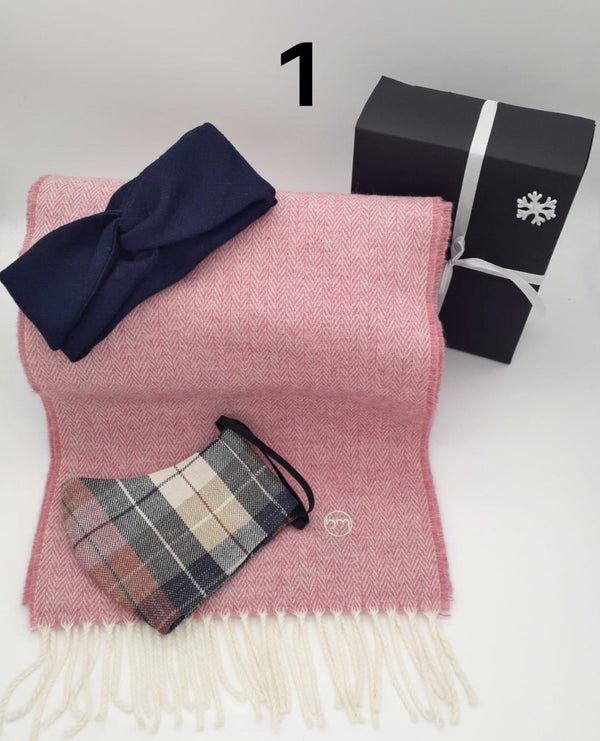 Gift Set - Cabin Fever Hairband, Merino Scarf & Face Mask (No 1)