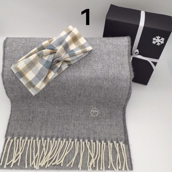 Gift Set - Cabin Fever Hairband & Merino Scarf