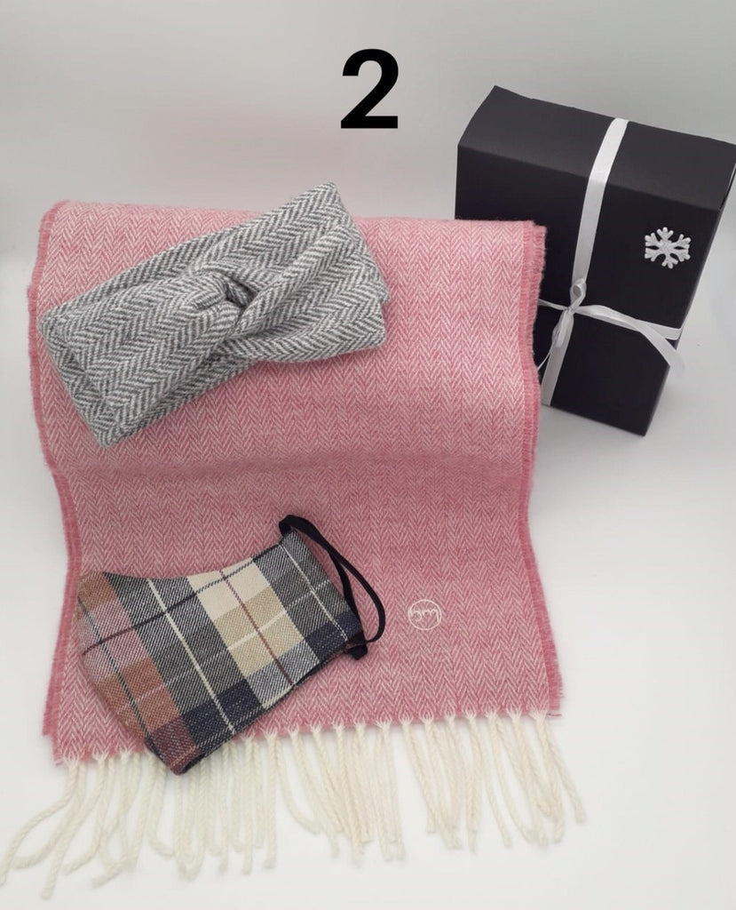 Gift Set - Cabin Fever Hairband, Merino Scarf & Face Mask (No 2)