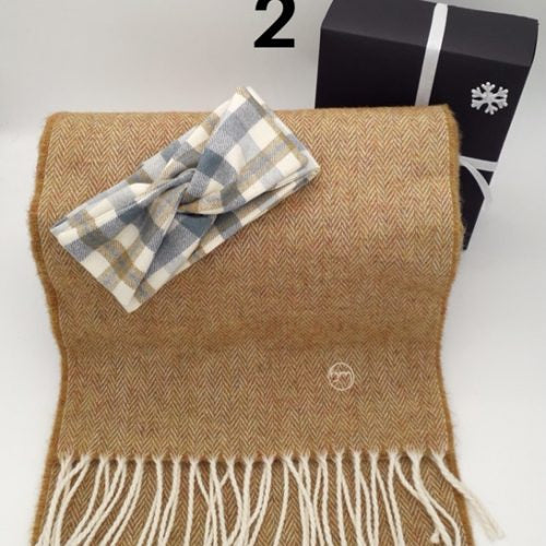 Gift Set - Cabin Fever Hairband & Merino Scarf (No 2)