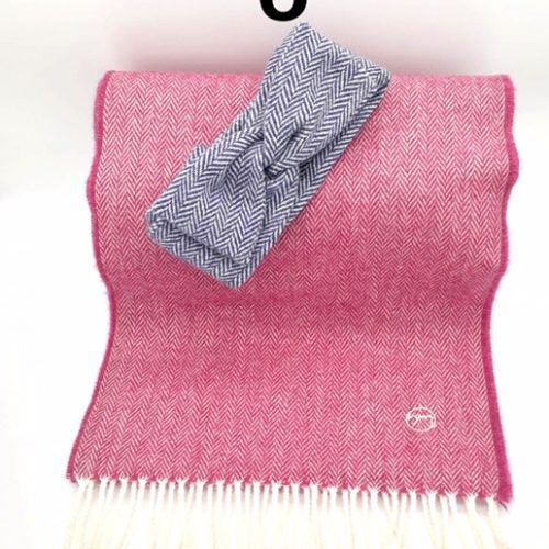 Gift Set - Cabin Fever Hairband & Merino Scarf (No 4)
