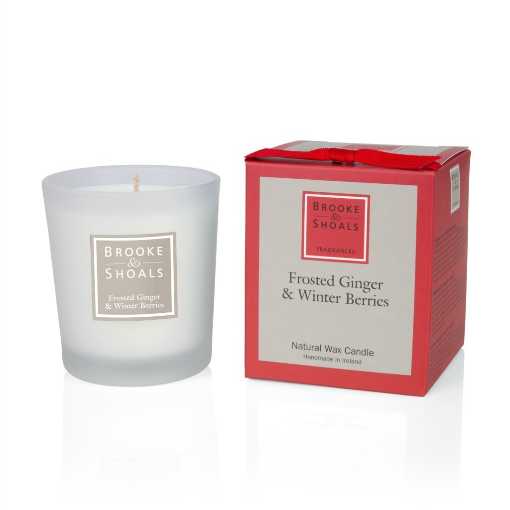 Brooke & Shoals - Small Scented Candle Frosted Ginger & Winter Berries