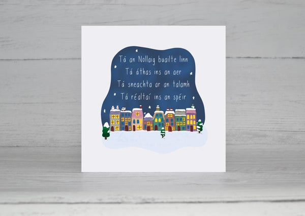 Tá an Nollaig buailte linn (Dashing Through The Snow) Christmas Card