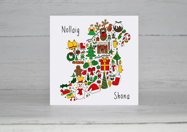 Happy Christmas from Ireland Christmas Card