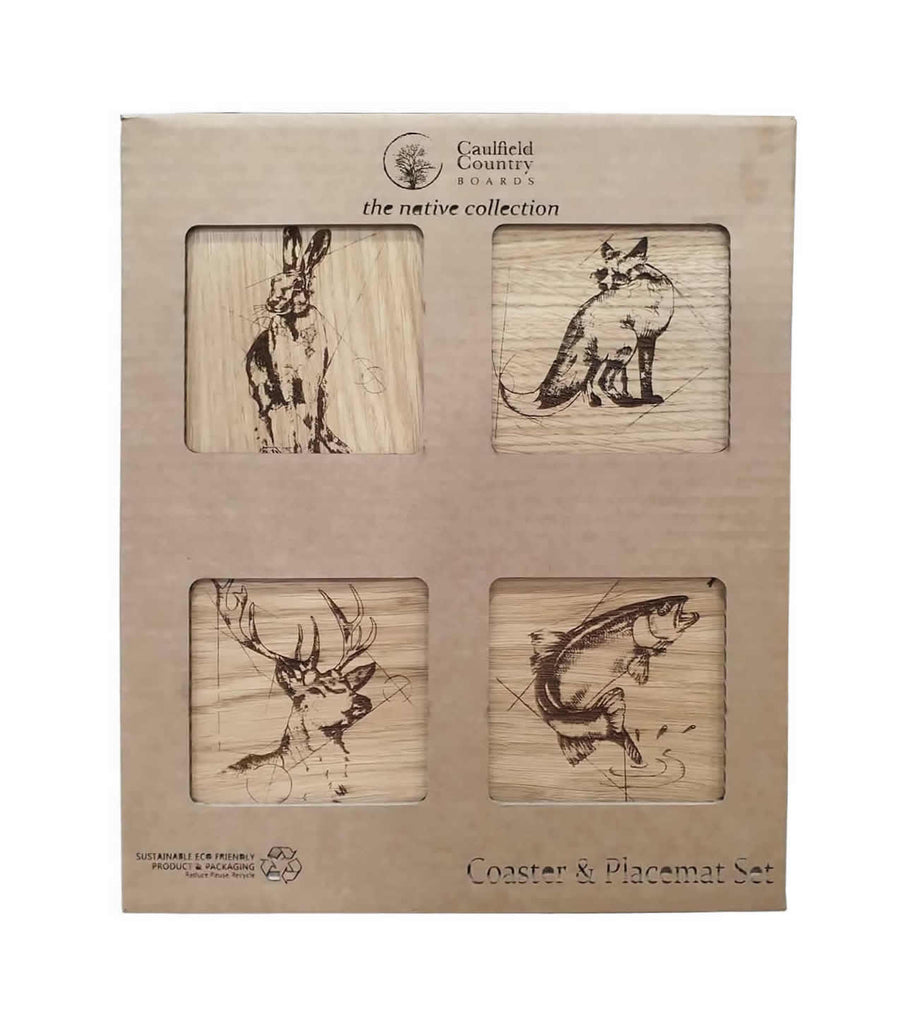 Caulfield Country Boards Coaster & Placemat  Set
