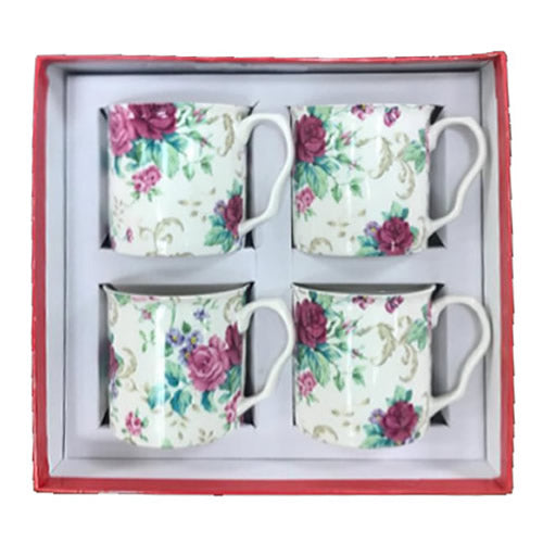 Shannonbridge Pottery Ireland Country Rose 4 Piece Set Square Box