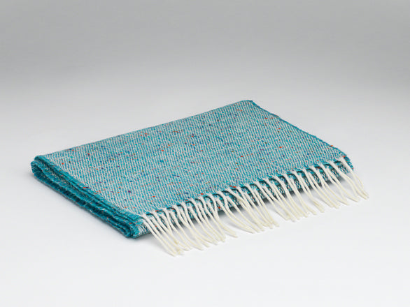 McNutt Of Donegal Herringbone Peacock Scarf