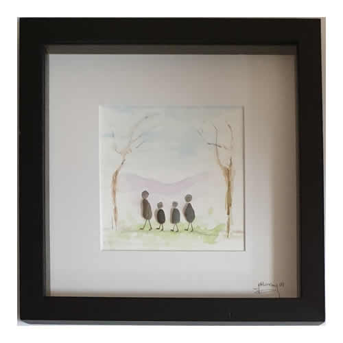 Stone the Crows Family Box Frame Black