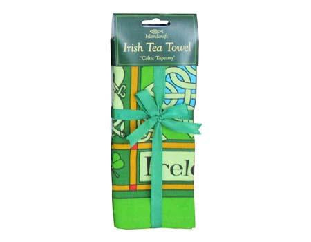 Island Craft Studios Celtic Tapestry Irish Tea Towel