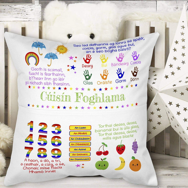 Irish Language Learning Cushion