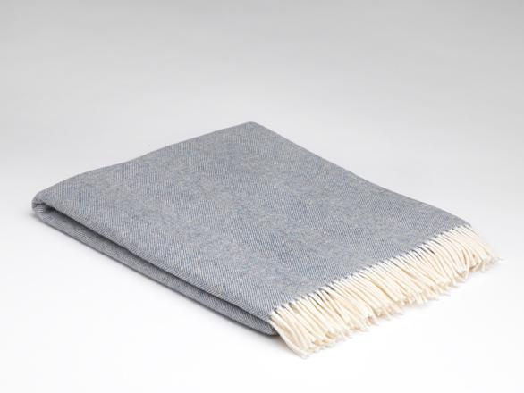 McNutt Of Donegal Spotted Blue Supersoft Throw
