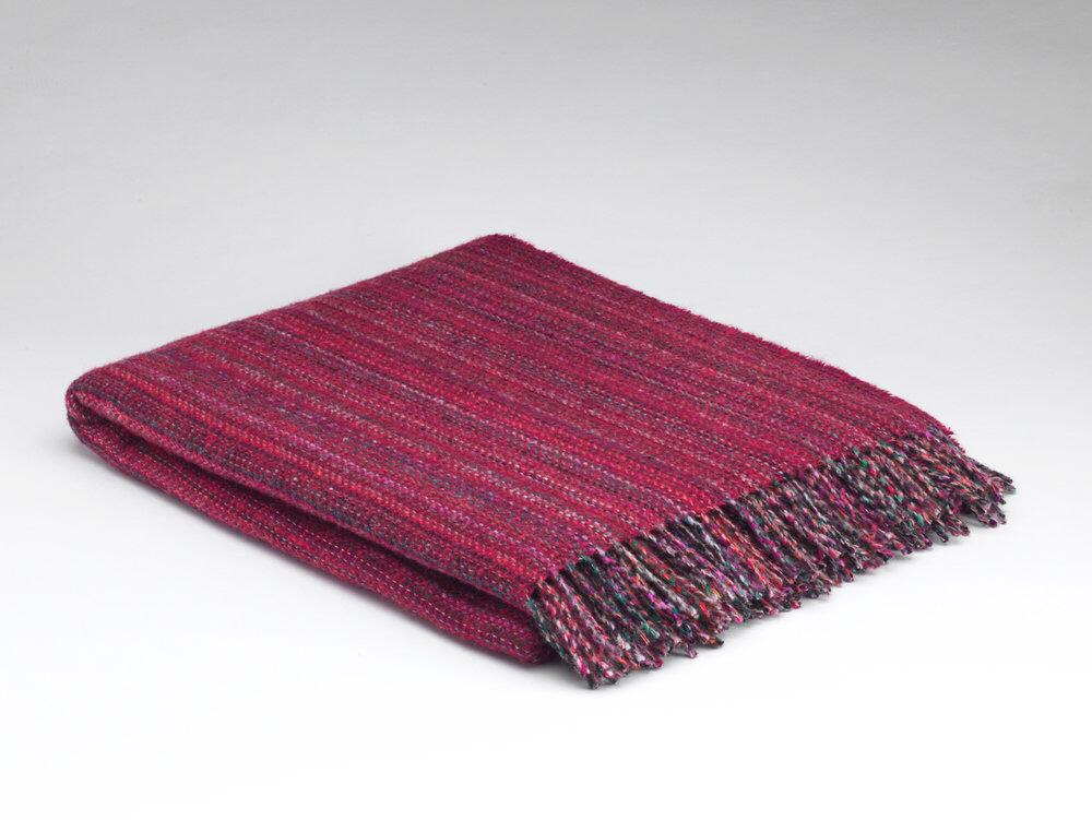 McNutt Of Donegal Fuchsia Tweed Throw - Heritage Range