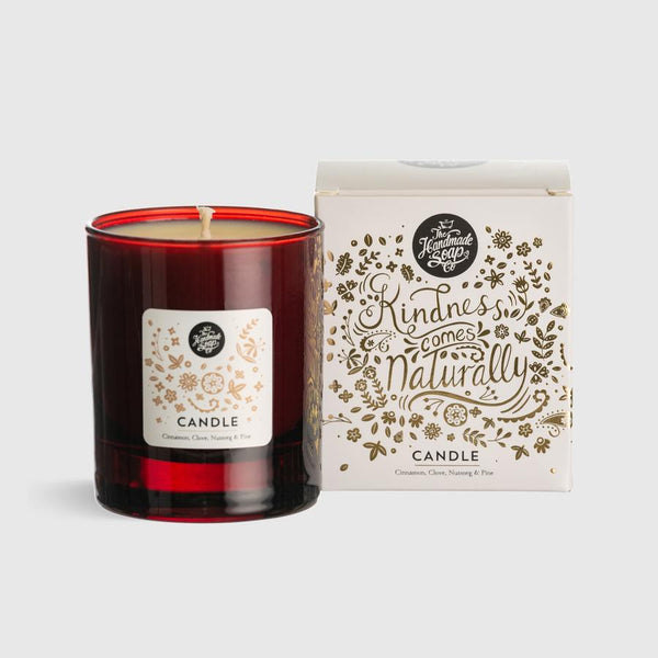 The Handmade Soap Company Winter Soy Wax Candle Cinnamon, Clove, Nutmeg & Pine