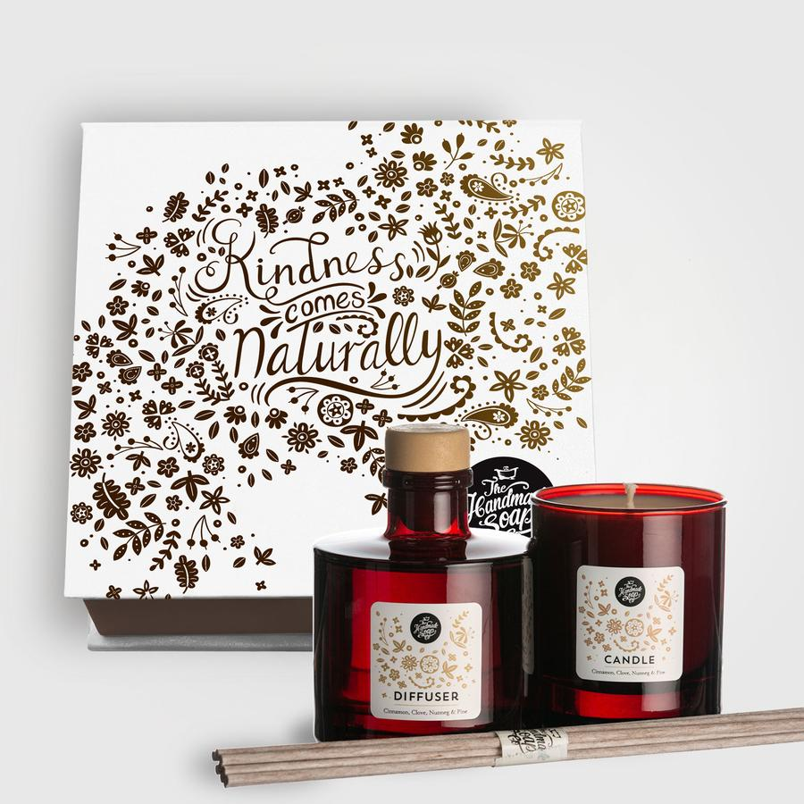 The Handmade Soap Company Winter Gift Set Candle & Diffuser