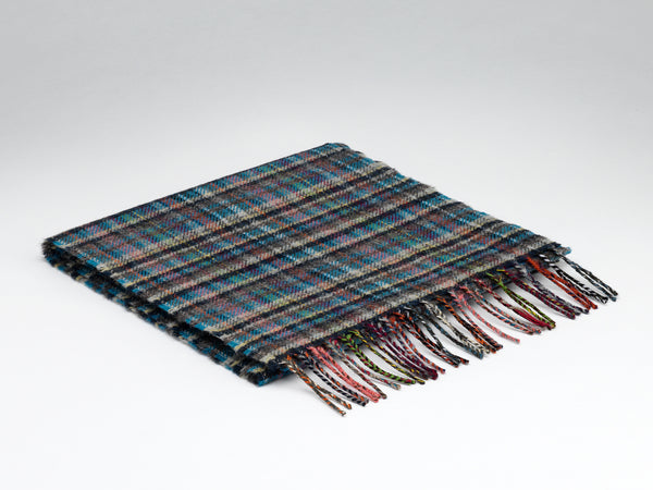 McNutt Of Donegal Ramelton Check Scarf