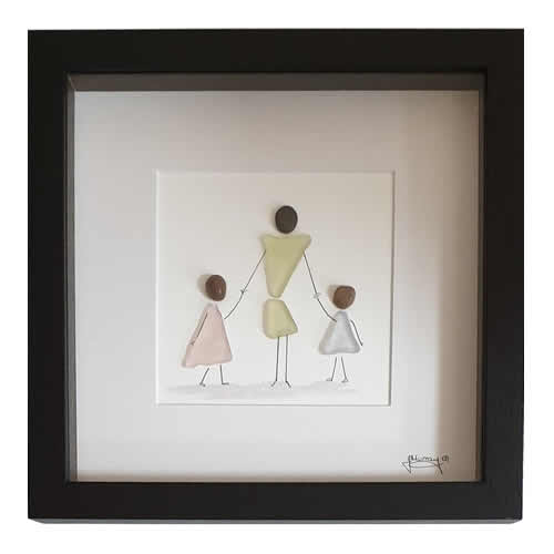 Stone the Crows Mother And Daughters Box Frame Black