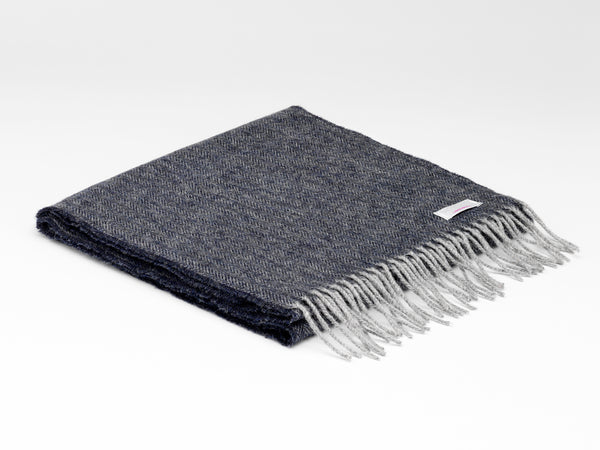 McNutt Of Donegal Charcoal Herringbone Scarf