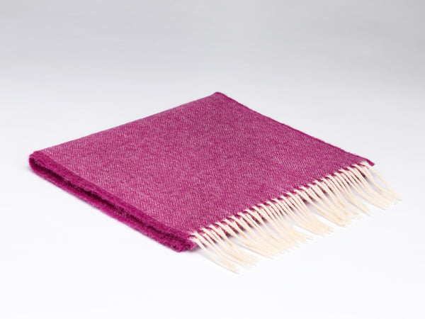 McNutt Of Donegal Beetroot Herringbone Scarf
