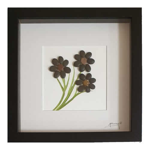 Stone the Crows Dark Flowers Box Frame Black