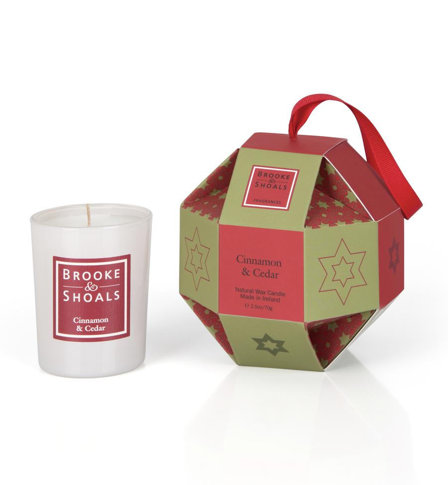 Brooke & Shoals Cinnamon & Cedar Christmas Bauble