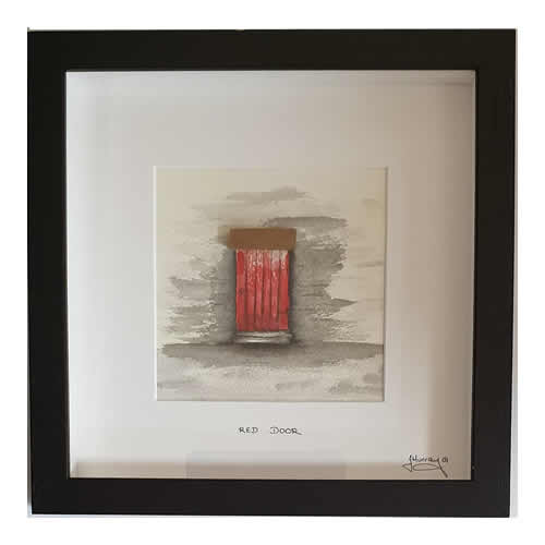 Stone the Crows Red Door Box Frame Black