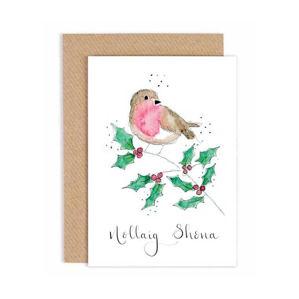 Three Little Birds Robin - Nollaig Shona