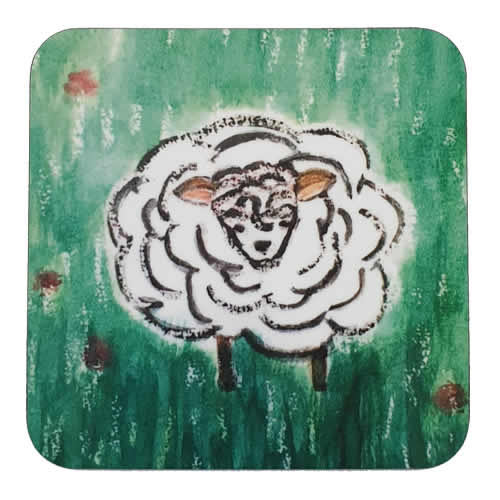 Irish Scene Coaster Sheep