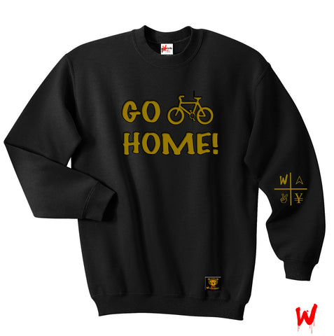 "Wavy Boy ""Go (Bike) Home!"" Crew - Wavy Boy Clothing  - 1"