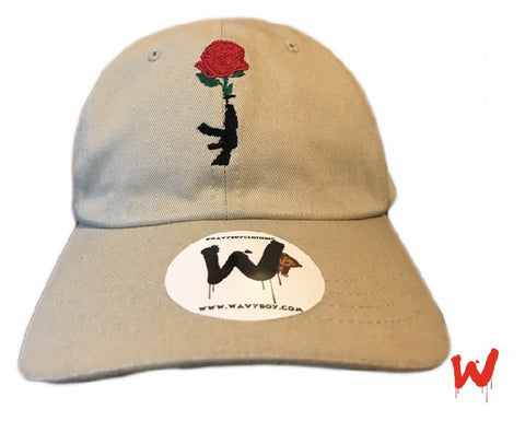 "Wavy Boy ""Gun Rose"" Dad Hat - Wavy Boy Clothing  - 1"
