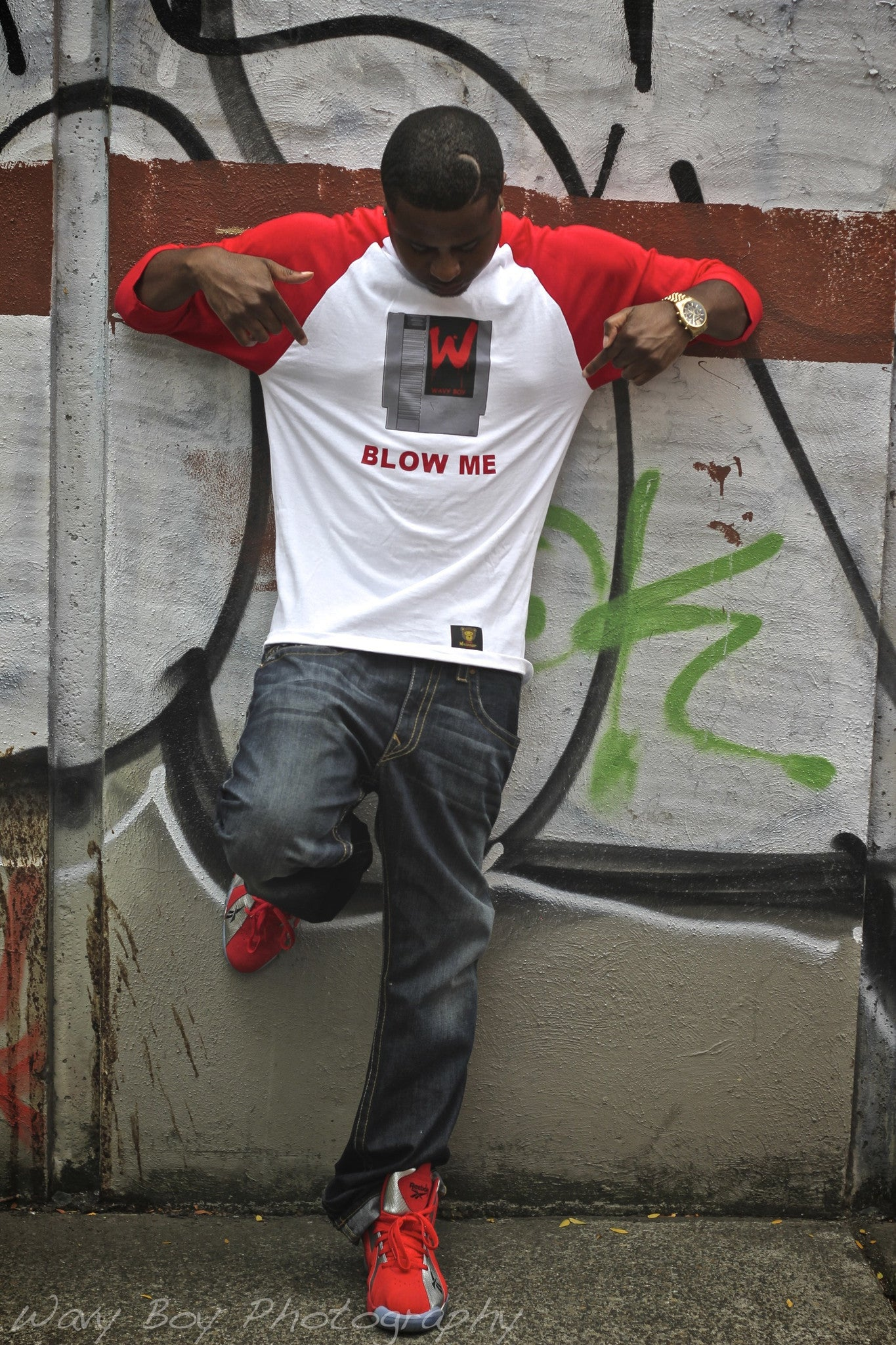 "Wavy Boy ""Blow Me""  (Baseball) Tee - Wavy Boy Clothing  - 2"
