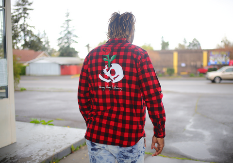 "Wavy Boy ""Skull"" Flannel"