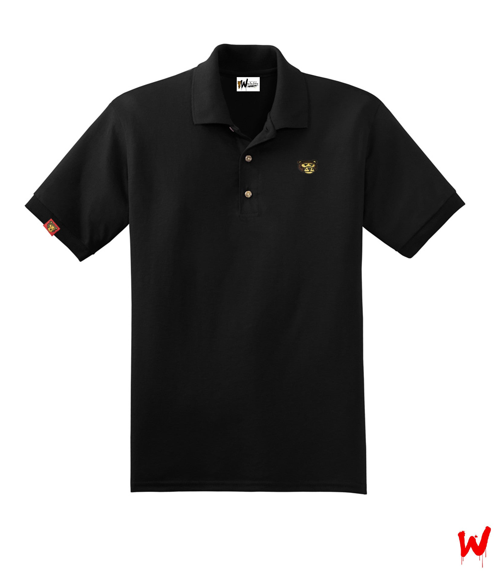 "Wavy Boy "" Bear Head"" polo - Wavy Boy Clothing"