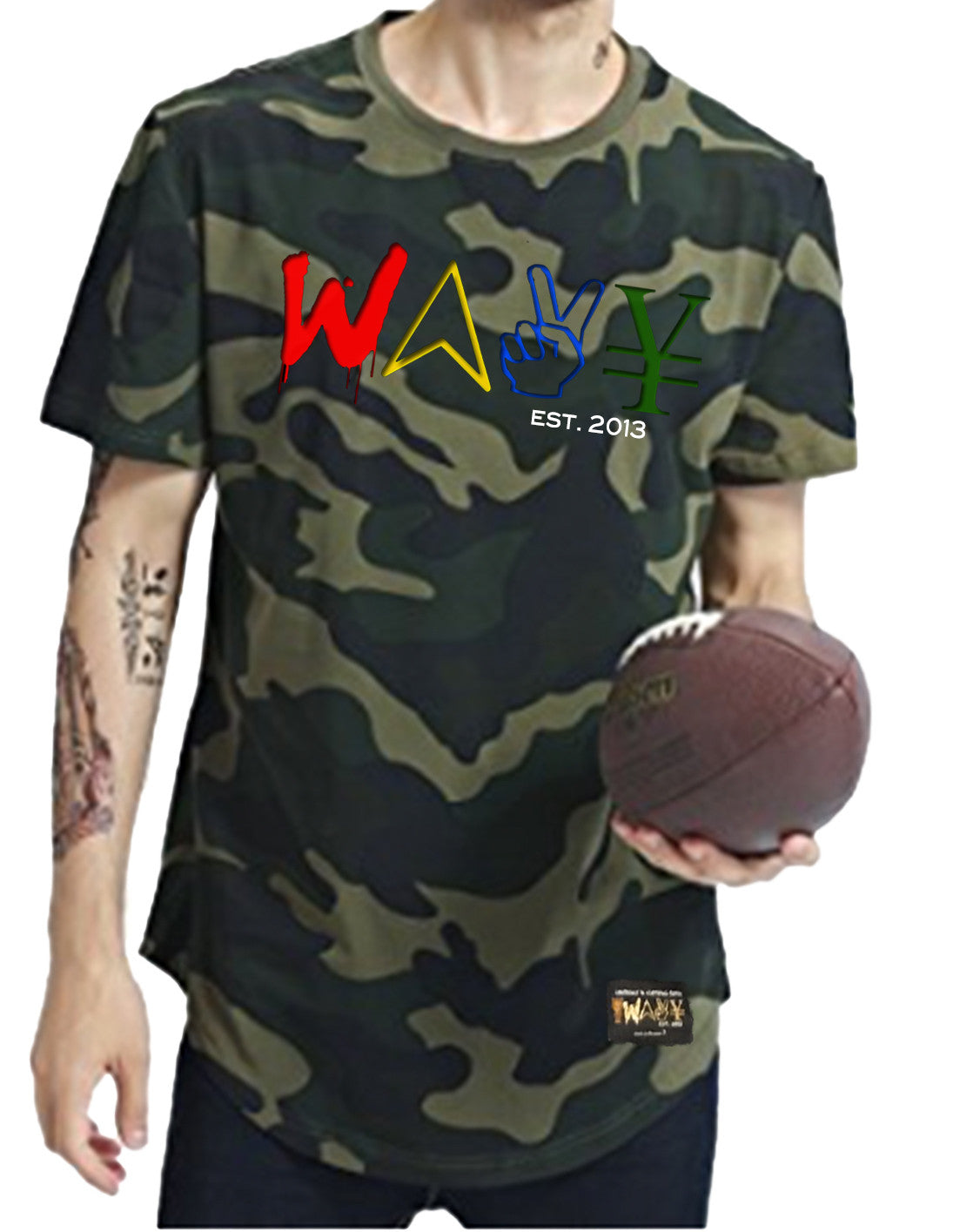 "Wavy Boy ""Color Wave"" camo tee(s) - Wavy Boy Clothing  - 1"