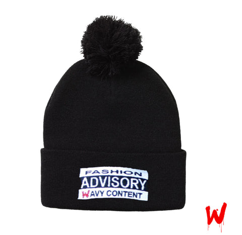 "Wavy Boy ""Fashion Advisory"" Beanie - Wavy Boy Clothing  - 1"