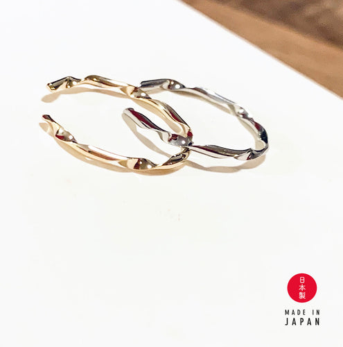 Wave Series: Saturn - 18K Ring x Ear Cuff - Gold