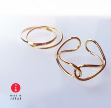 Load image into Gallery viewer, Link Gold - 18K GP Ring x Ear Cuff