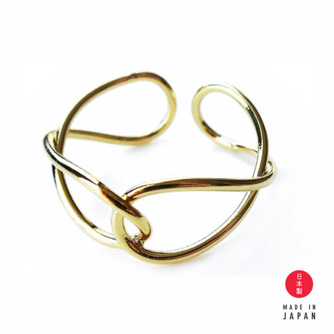 Link Gold - 18K GP Ring x Ear Cuff