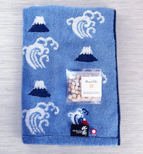 Load image into Gallery viewer, Imabari Hokusai Blue Towel 北斎の浪裏 - M Set