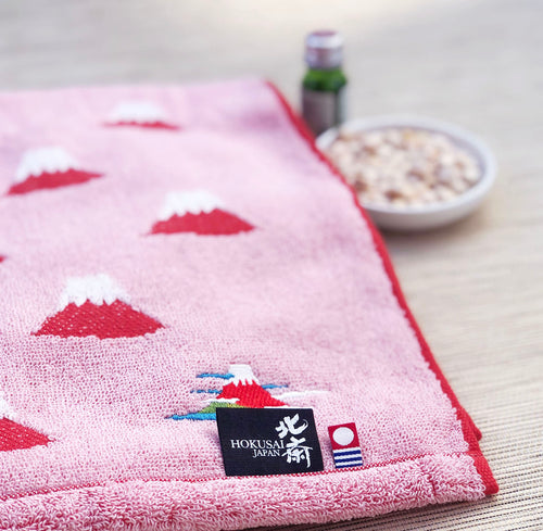 Imabari Hokusai Red Towel 赤富士 - M Set