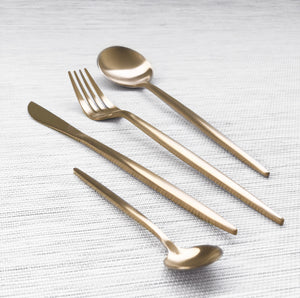 Gold Matte Cutlery Set of 4