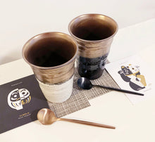 Load image into Gallery viewer, Pair Cups Set - Black & White Gold