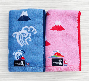 Imabari Hokusai Red Towel 赤富士 - L