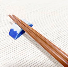 Load image into Gallery viewer, Chopsticks Rest - Mt. Fuji BLUE 美濃焼