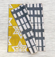 Load image into Gallery viewer, Table Mat - Yellow + Grey