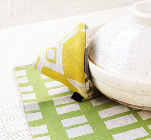 Table Mat - Lime + Grey