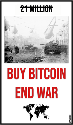 End War with bitcoin Sticker